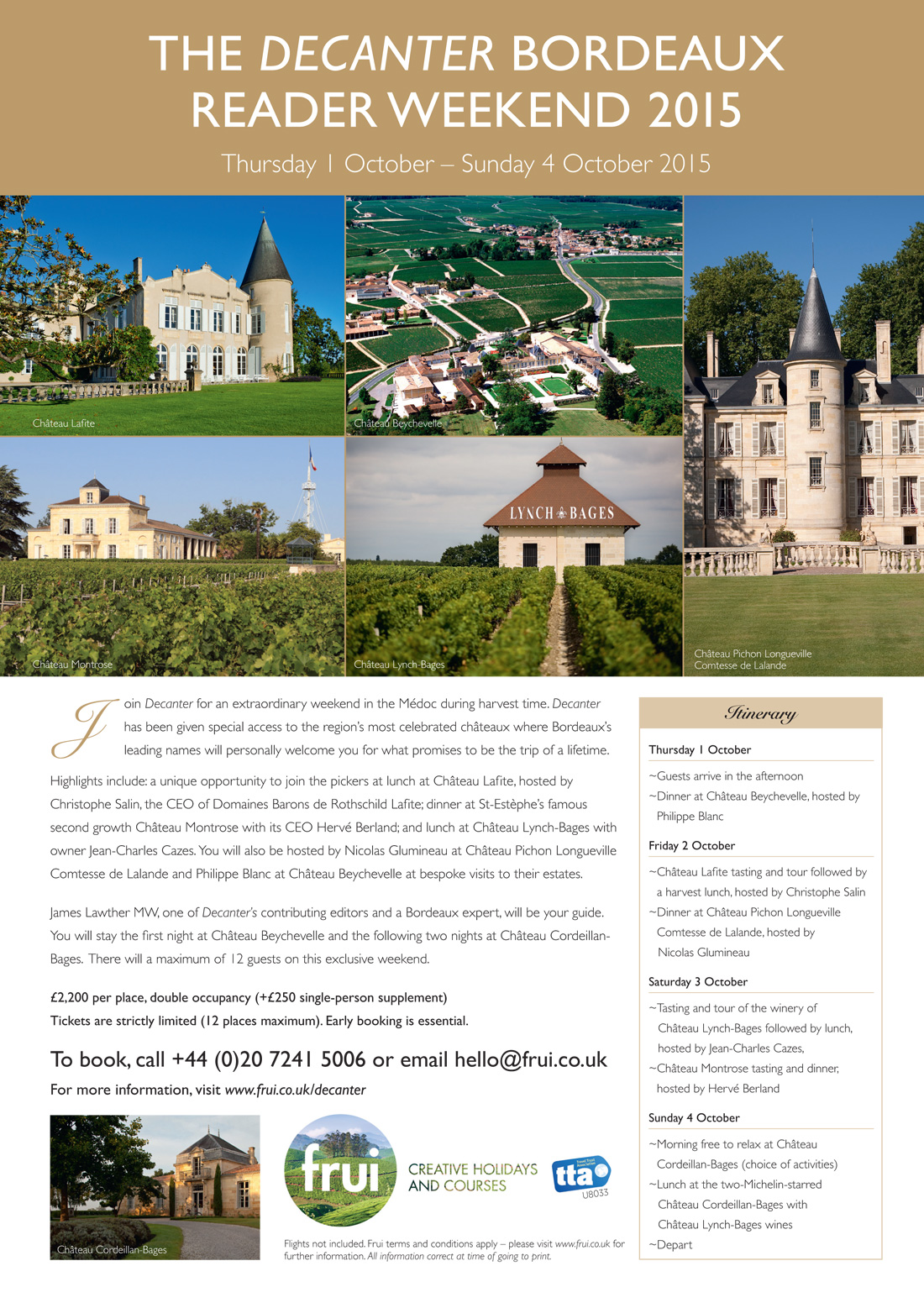 The Decanter Bordeaux Reader Weekend 2015